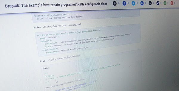 Tips & Tricks] Drupal 8: The example how create a configurable block